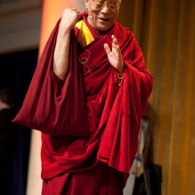 """HH 17th Dalai Lama, Mind & Life XIX"" stock image"