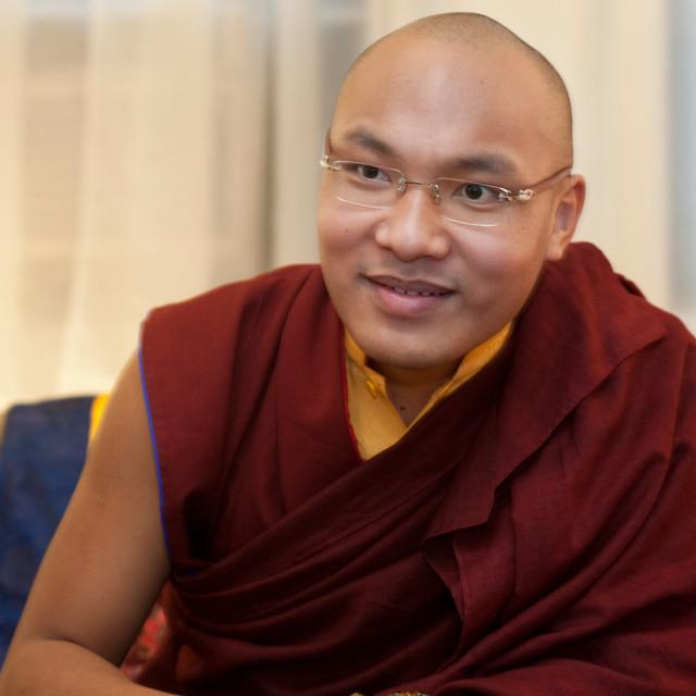 """""""17th Karmapa, Orgyen Trinley Dorje"""" stock image"""
