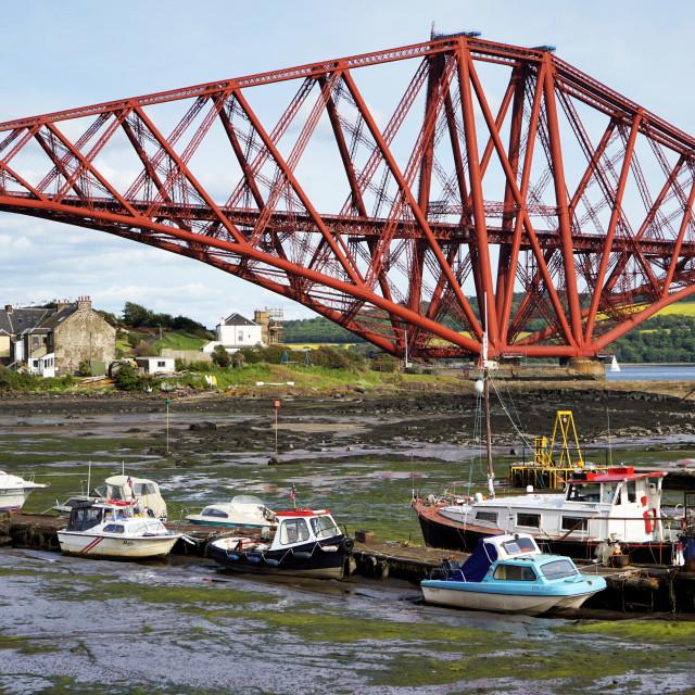 """Firth of Forth Bridge"" stock image"