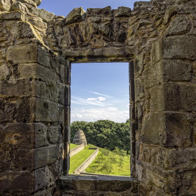 """""""Aberdour Castle"""" stock image"""