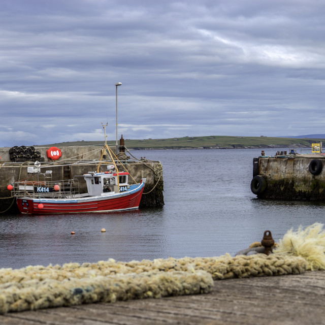 """John o' Groats Harbour"" stock image"