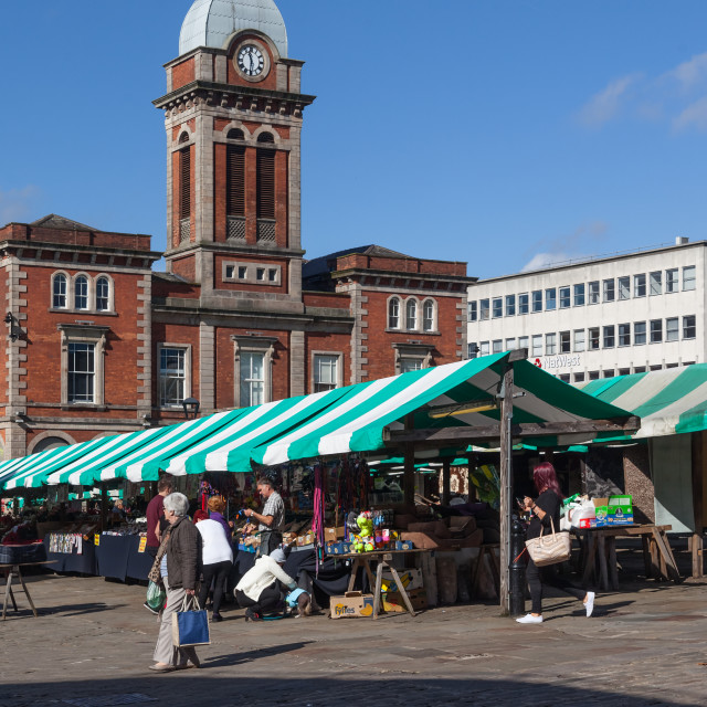 """Chesterfield Market"" stock image"