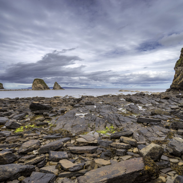 """""""Brough Bay in Dunnet"""" stock image"""
