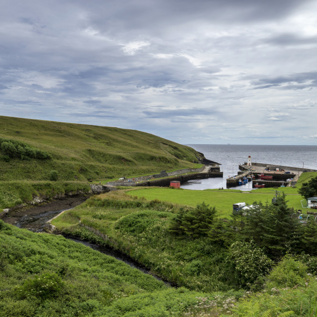 """""""Lybster Harbour"""" stock image"""