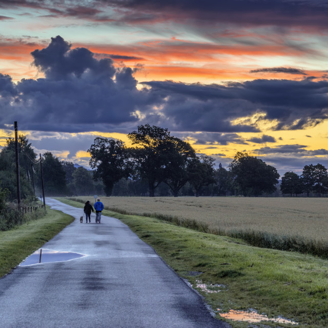 """""""Sunset in Central Scotland"""" stock image"""