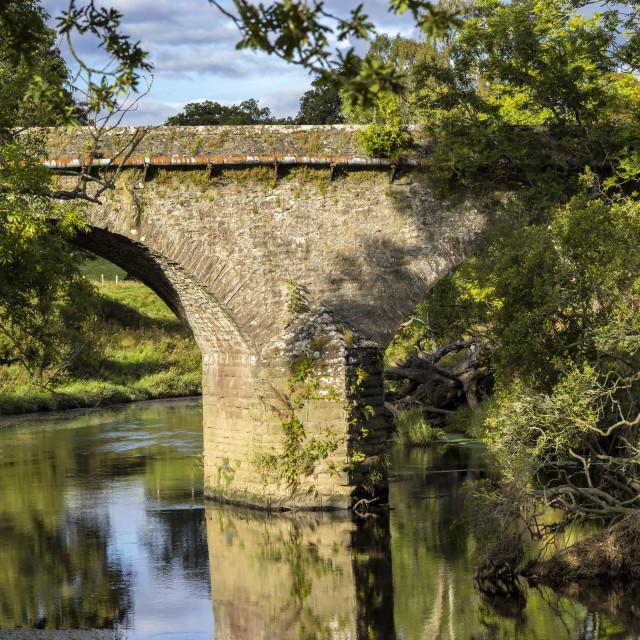 """The Old Bridge"" stock image"