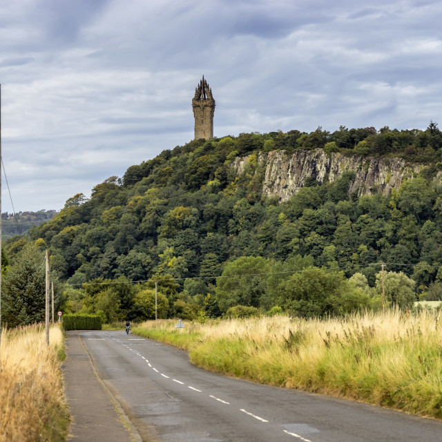 """""""The National Wallace Monument"""" stock image"""