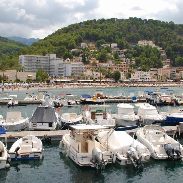 """Port de Soller, Majorca"" stock image"