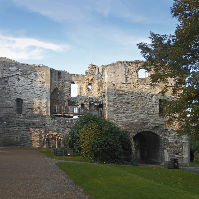 """Newark castle gatehouse"" stock image"
