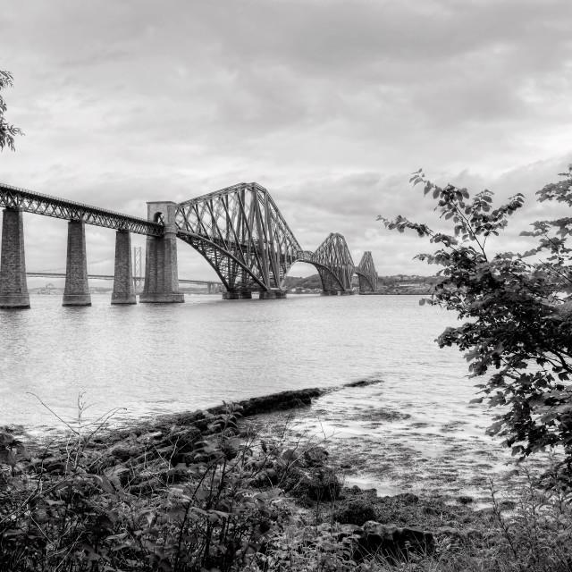 """""""Forth Bridge in Scotland"""" stock image"""