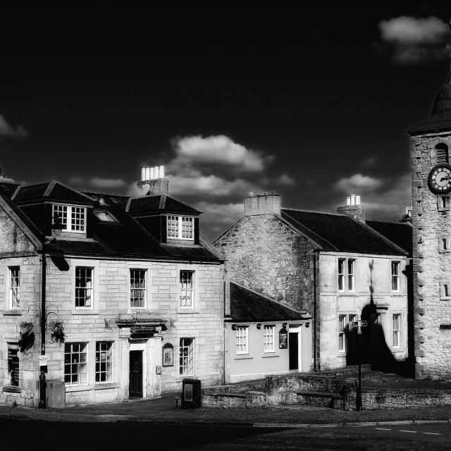 """""""Old Clackmannan Town"""" stock image"""