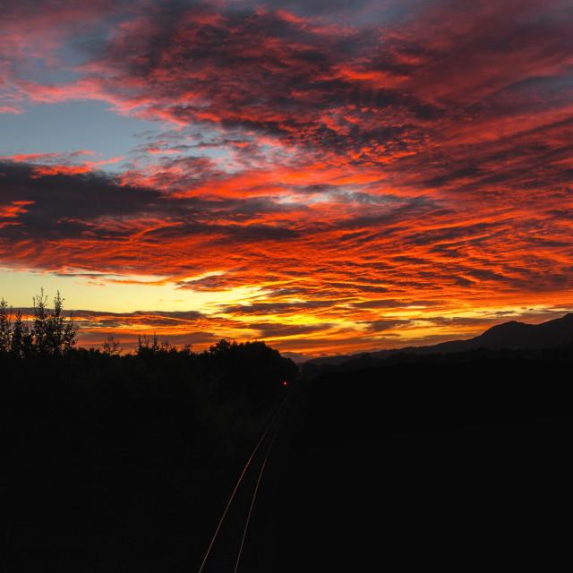 """Destination Sunset"" stock image"