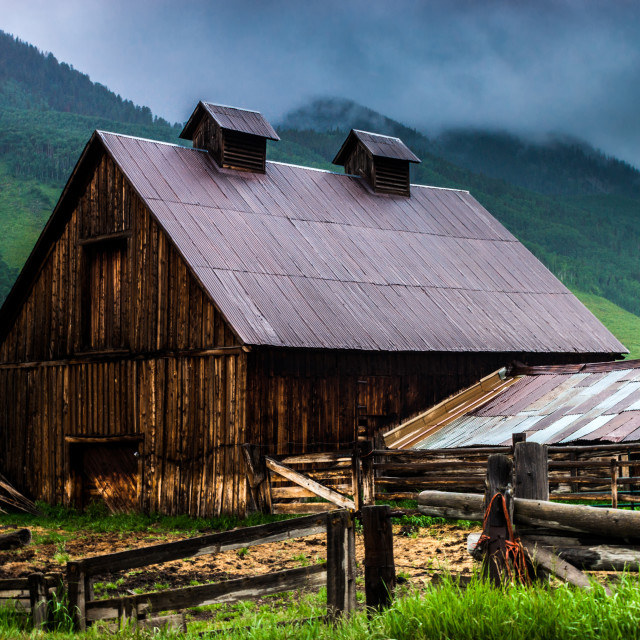 """A Barn In Crested Butte"" stock image"