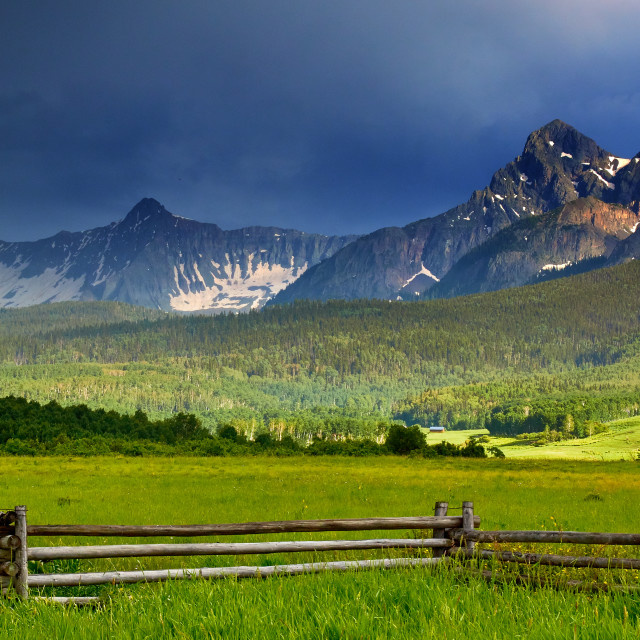 """Storms Over Kebler Pass"" stock image"