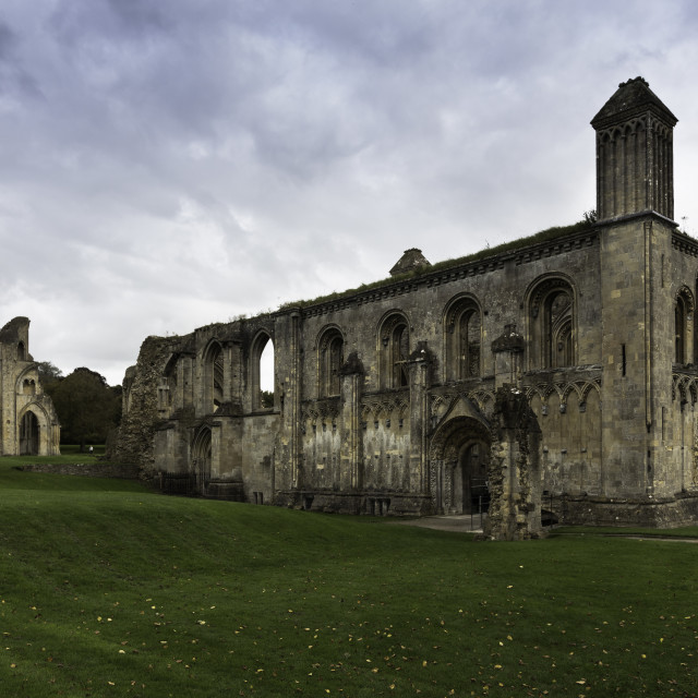 """Glastonbury Abbey"" stock image"