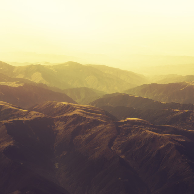 """""""Carpathian Mountains from the Plane"""" stock image"""