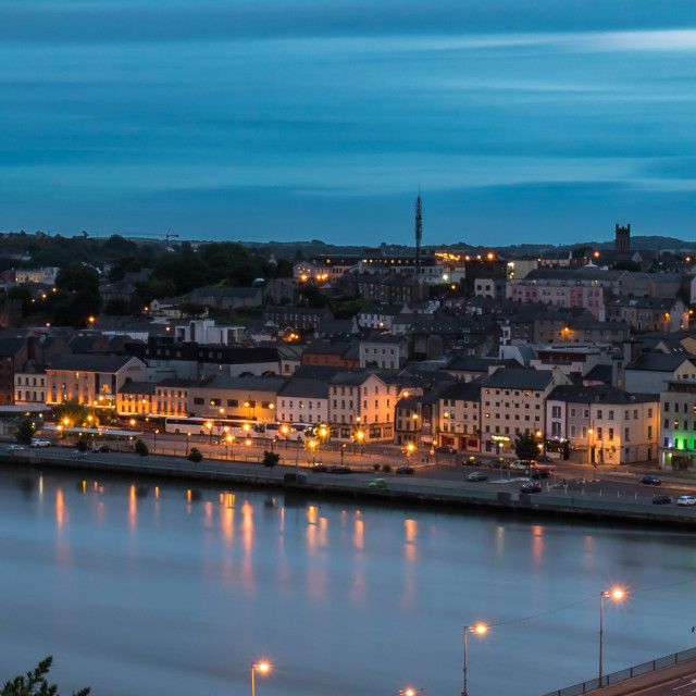 """Waterford City at Dusk"" stock image"