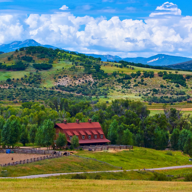 """A Barn In Steamboat"" stock image"