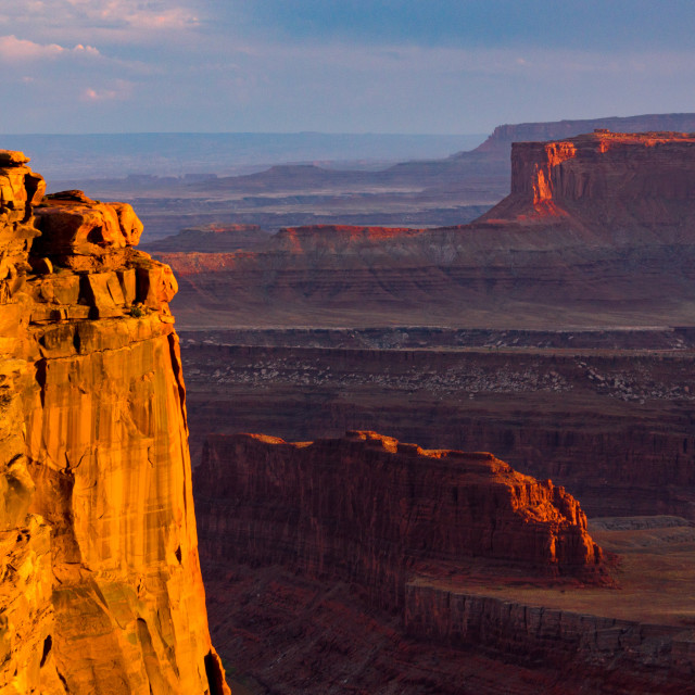 """Golden Hour At Dead Horse Point"" stock image"
