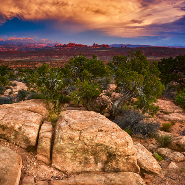 """Sunset Over Arches National Park"" stock image"