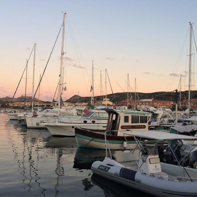"""""""Sunset Marina"""" stock image"""