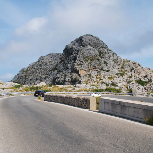 """Sa Calobra road in Majorca"" stock image"