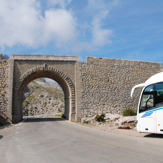 """""""Sa Calobra viaduct, Majorca"""" stock image"""