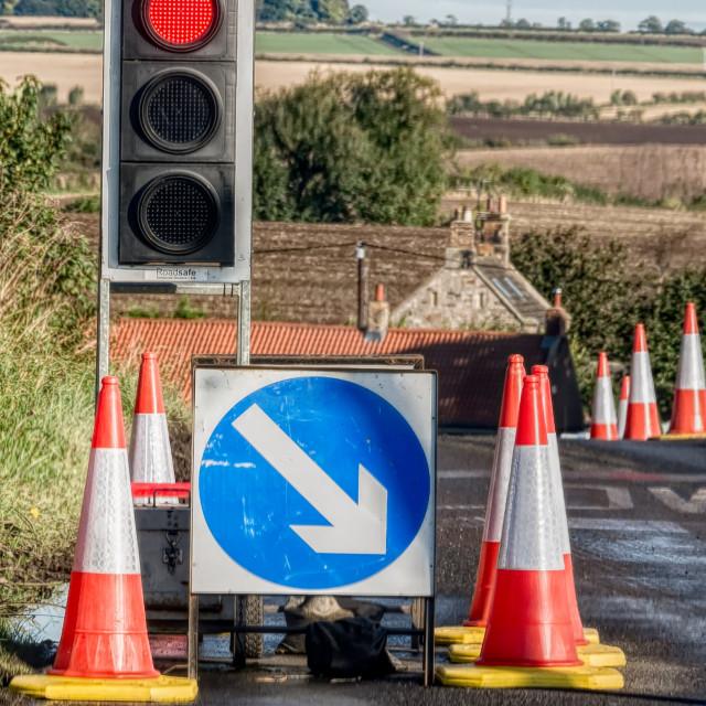 """""""Rural roadworks"""" stock image"""