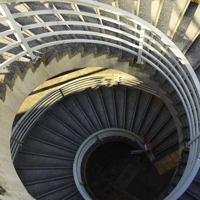 """""""Hong Kong Charter Garden Spiral Staircase"""" stock image"""