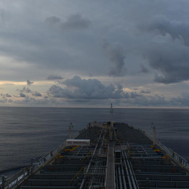 """Ship Sunset"" stock image"