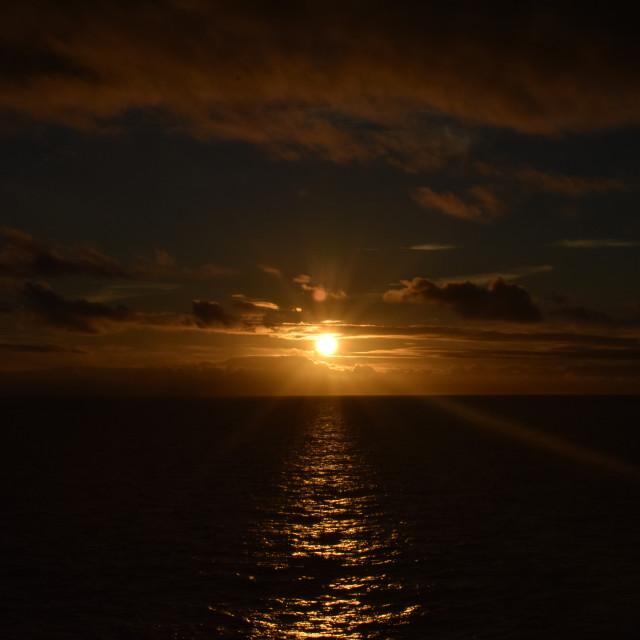 """A dark sunset"" stock image"