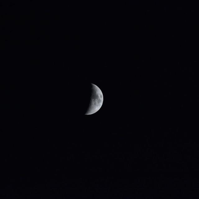 """Early moon"" stock image"