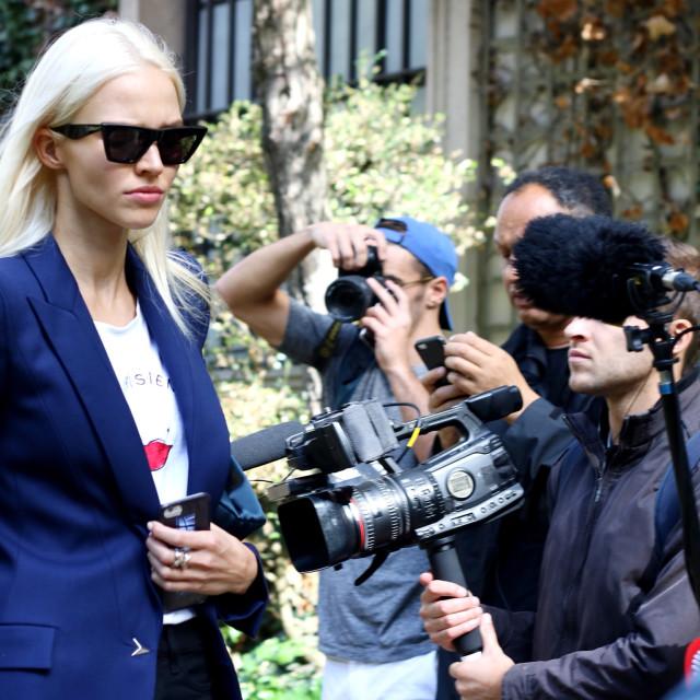 """SASHA LUSS @ Paris Fashion Week"" stock image"