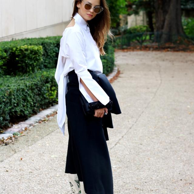 """Paris Fashion Week - Silver Boots"" stock image"