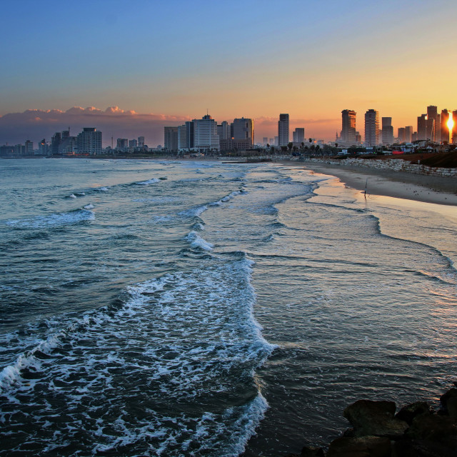 """Sunrise on Tel-Aviv"" stock image"