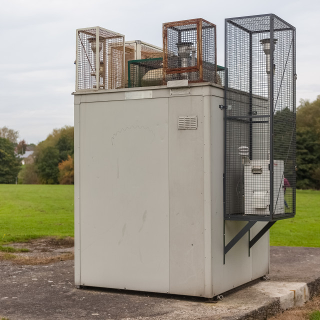 """Air Pollution Monitoring Station"" stock image"
