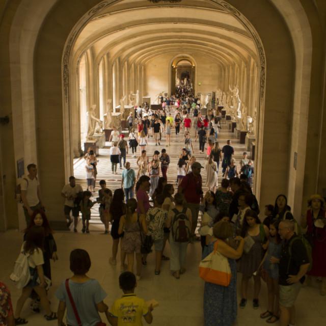 """Hallway in Louvre, Paris, France"" stock image"