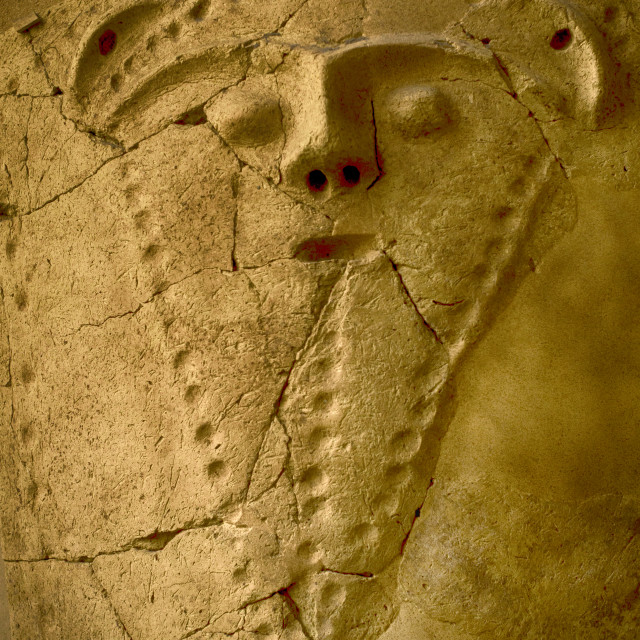 """""""Bearded man, 3rd BC-3rd AD. Susa, Iran. Louvre Museum. Paris. France"""" stock image"""