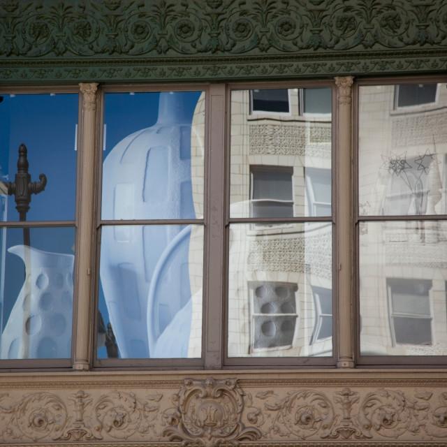 """Window of Art Gallery, Washington, DC"" stock image"