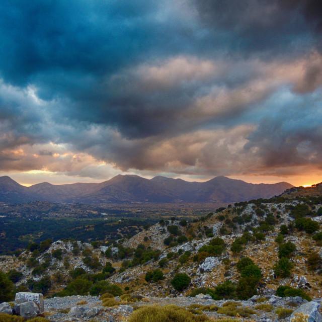 """""""Lasithi plateau (Crete)"""" stock image"""