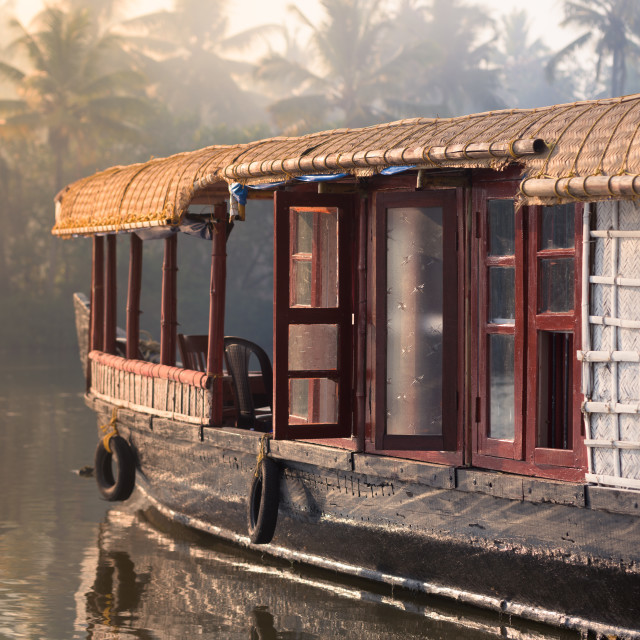 """Boathouse in the Backwaters"" stock image"