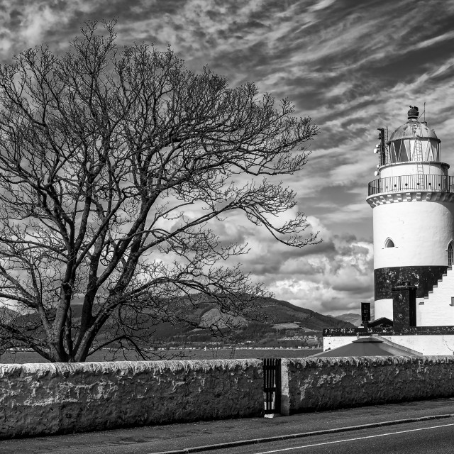 """""""Cloch Lighthouse at Gourock"""" stock image"""
