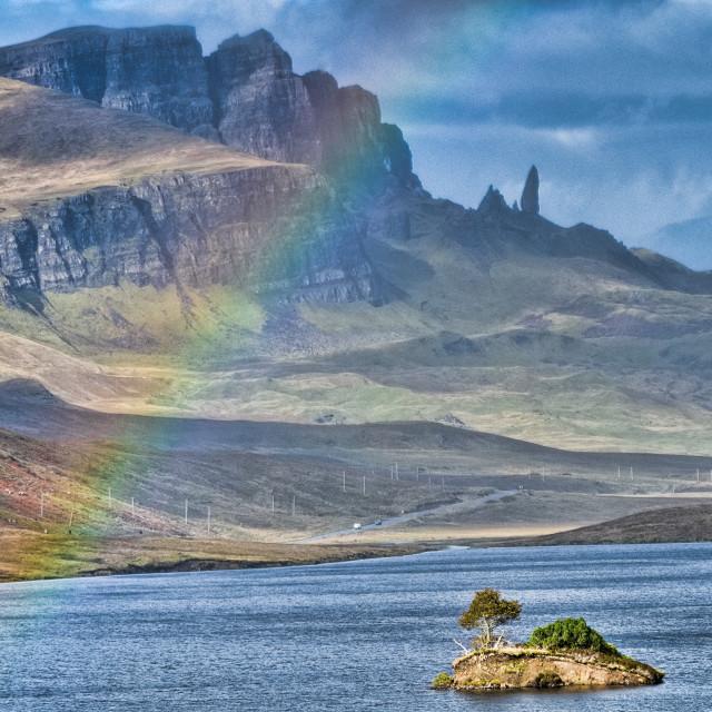 """Old man rainbow"" stock image"