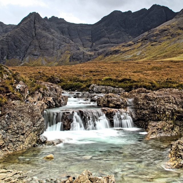 """The Fairy pools"" stock image"