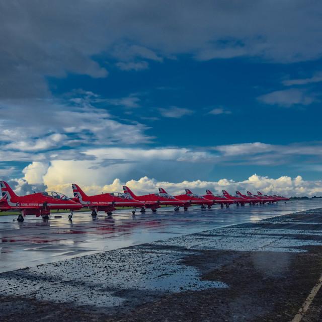 """Red Flight line"" stock image"