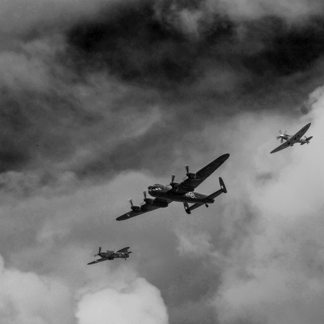 """""""Vintage Fly Past"""" stock image"""