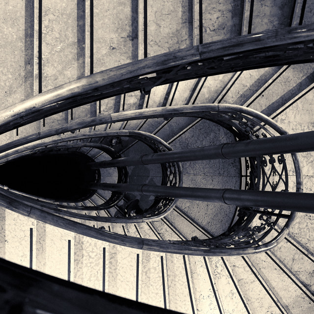 """""""The Mussel-Shaped Staircase"""" stock image"""