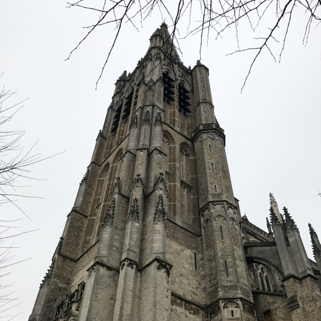 """""""Church in Ypres"""" stock image"""