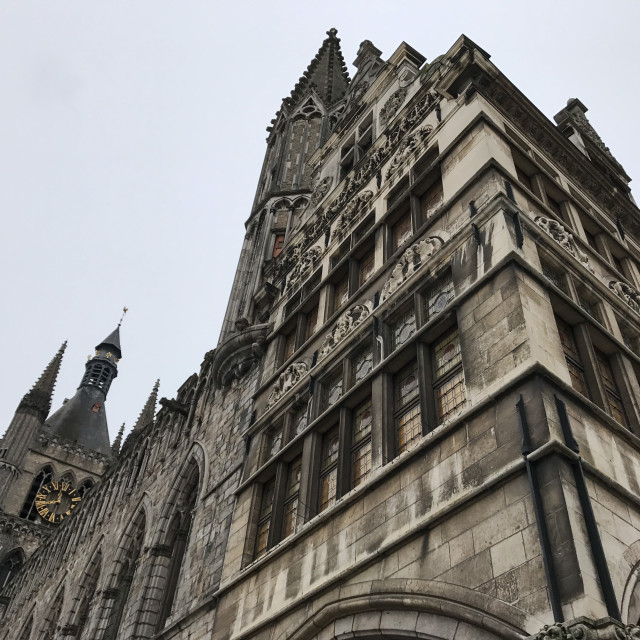 """""""Cloth Hall, Ypres"""" stock image"""