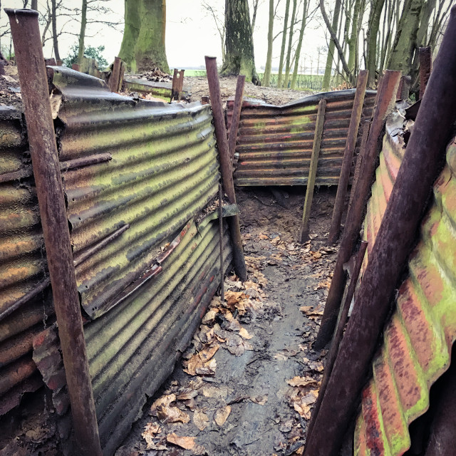 """Sanctuary Wood Trenches"" stock image"
